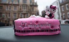 NEW Hello Kitty Scottish-Style Series Car / Home Tissue Box Cover 3Colors