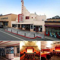 1930s art deco cinema, retail and living space in Arcata, California, USA
