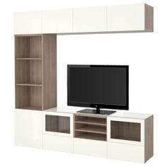 BESTÅ, TV-Komb. mit Vitrinentüren, grau las. Nussbaumnachb., Jetzt bestellen unter: https://moebel.ladendirekt.de/wohnzimmer/tv-hifi-moebel/tv-waende/?uid=a73d945e-2672-5a67-b834-f313eeb6bd35&utm_source=pinterest&utm_medium=pin&utm_campaign=boards #tvwaende #wohnzimmer #tvhifimoebel