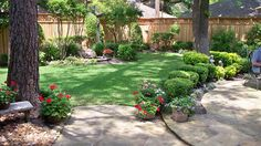 Landscaping Along Privacy Fence | Wood Fence: Residential - Houston Fence Company