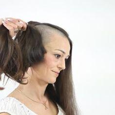 Long Hair Cut Short, Girl Short Hair, Short Hair Styles, Half Shaved Head, Shaved Hair, Weird Haircuts, Punishment Haircut, Forced Haircut, Female Mohawk