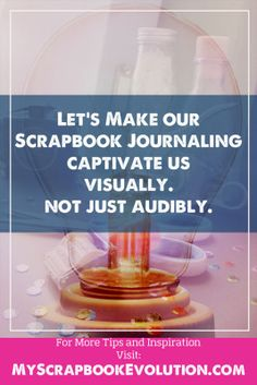 Visual forms of journaling support your #scrapbook layouts & make the page more distictive