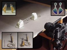 Bottom left shows how she held up the top right earrings. How to Photograph Gemstones