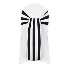 Venue Decorations 102430: 100 Stripe Satin Chair Cover Sash Bows 6 X108 Print Wedding Party Made In Usa -> BUY IT NOW ONLY: $136.49 on eBay!