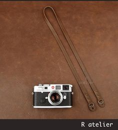 Leather Camera Strap | Handmade Leather Camera Strap | Classic Camera Strap | Rangefinder Camera Strap | Leather Camera Lug Strap