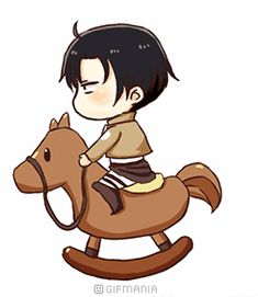 Levi shingeki no kyojin Chibi Attack on titan gif Cute Armin, Eren Y Levi, Attack On Titan Anime, Levi Ackerman, Anime Gifs, Manga Anime, Me Me Me Anime, I Love Anime, Nezumi No 6