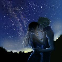 "Tifa and Cloud ""....Cloud... make me a promise..."""