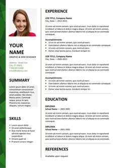 Dalston modle gratuit de cv tlcharger modles de cv dalston free resume template microsoft word green layout yelopaper Gallery