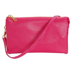 Humble Chic Vegan Leather Small Crossbody Bag or Wristlet Clutch Purse, Includes Adjustable Shoulder and Wrist Straps - Fuchsia Vegan Leather, Soft Leather, Small Crossbody Bag, Staple Pieces, Clutch Purse, Cross Body Handbags, Special Gifts, Shoulder Bag, Purses
