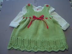 Ravelry: Summer Dress for Catalina Maria Baby Dress Pattern Free, Free Pattern, Knitted Baby, Baby Knitting, Baby Dresses, Summer Dresses, Tunics, Ravelry, Doll Clothes