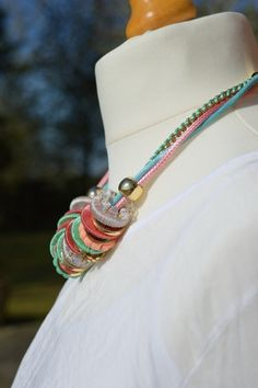 This Multi - Colour Hoop Necklace is fun to wear. Available at http://mandysheaven.co.uk/ - Women's Fashion Boutique UK