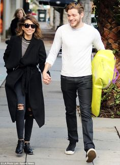 Day outing: On Thursday, lovebirds Sarah Hyland, 25, and boyfriend Dominic Sherwood, also ...