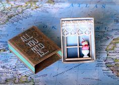 All You Need Is... Matchbox Diorama por CrackerSamsa en Etsy