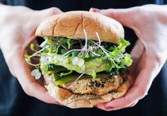I feel like I saw this a lot but.. WOW. This recipe though. You HAVE to try it asap. I roasted poblano peppers and used them as a topping on this burger. I also incorporated them into the guaca…