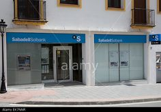 Banco Sabadell bank in Andalusia Spain Stock Photo #bank #tsb #editorial