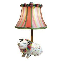 MacKenzie-Childs - Piggy Lamp