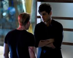 Dominic Sherwood and Matthew Daddario in Shadowhunters: The Mortal Instruments (2016)