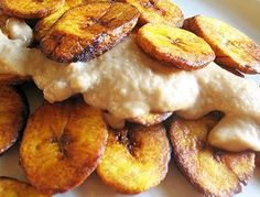 Sweet Fried Plantains and Coconut-Peanut Butter Sauce | Lisa's Kitchen | Vegetarian Recipes | Cooking Hints | Food & Nutrition Articles