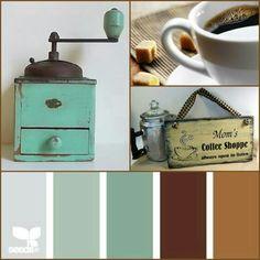 Vintage coffee theme kitchen