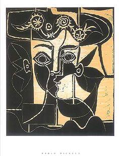 Femme au chapeau orne, 1962 by Pablo Picasso
