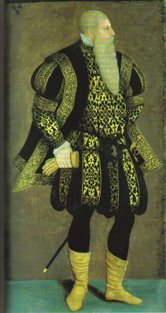 Gustav Vasa (1496-1560) himself. those pants...how the fold at the top is it like that all the way arround? I want to make some but none of the photos I find are clear enough