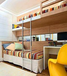 10 #quartos pequenos para mais que uma #criança Veja no #SimplesDecoracao  Link no perfil l#ambientespequenos  #quartopequeno