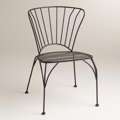 Black Metal Cadiz Chairs, Set of 2 | World Market