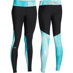 NEW at All Volleyball! Under Armour Volleyball Alpha Legging - Teal $44.99