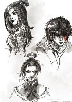 Azula, June, and Zuko.