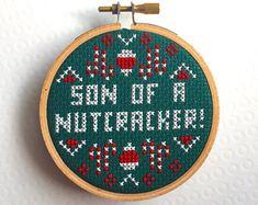 MINI Son of a Nutcracker! Elf Film Movie Counted Cross Stitch Pattern Download Beginner