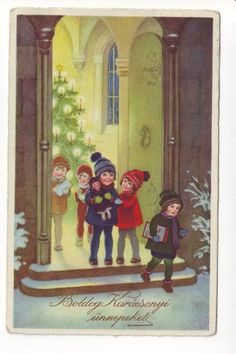 Vintage hungarian christmas postcard 1933.....................d Christmas Holidays, Christmas Cards, My Town, Budapest Hungary, Time Of The Year, Winter Snow, Wonderful Time, Retro Posters, History