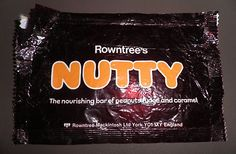 Nutty chocolate bar by Rowntree's Old Sweets, Vintage Sweets, Retro Sweets, Retro Food, Vintage Candy, 1980s Childhood, My Childhood Memories, Sweet Memories, Nutty Bars