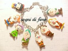 Snow White and the Seven Dwarfs made with polymer clay