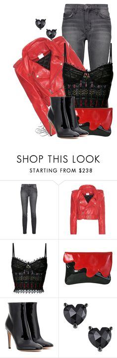 """""""Evening Romance"""" by bainbridgegal ❤ liked on Polyvore featuring Current/Elliott, Vetements, Alexander McQueen, Luciano Padovan and Gianvito Rossi"""