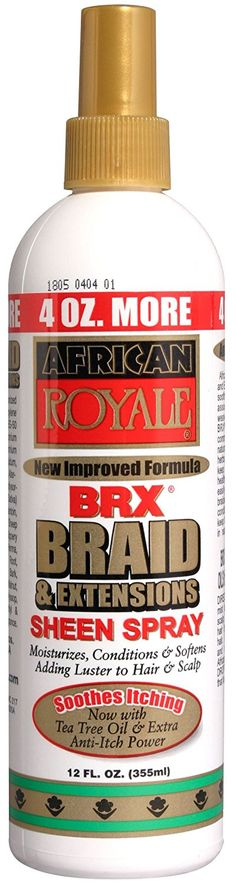 African Royale Braid Sheen Spray Bonus 12 oz. (Pack of 6) *** This is an Amazon Affiliate link. Details can be found by clicking on the image.