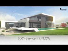 Modernes Flachdachhaus bauen, Flachdachhäuser mit FLOW