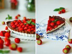 hami mnami: jahodový koláč s panna cottou z bielej čokolády à la Adrianka :)