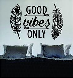 Feathers Good Vibes Only Version 2 Design Decal Sticker Wall Vinyl Art Words Decor, http://www.amazon.com/dp/B014P1D9BG/ref=cm_sw_r_pi_awdm_r0j8wb17DJK63