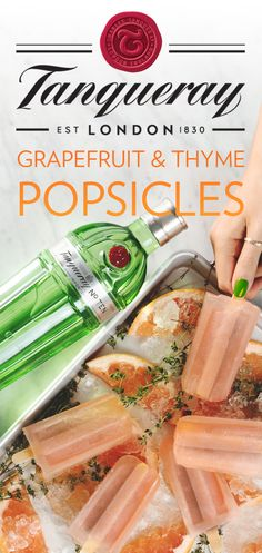 Whether you're hosting a summer party or just kicking back with the crew, keep it cool with Grapefruit & Thyme Popsicles. This fresh gin recipe will help your crowd beat the heat in style. To make some of your own, just mix 1.25 oz. Tanqueray No. TEN, Fever-Tree Mediterranean Tonic, thinly sliced grapefruit and a sprig of thyme. Pour the mixture into popsicle molds and freeze. Grab some friends and stick to these reimagined cocktails.