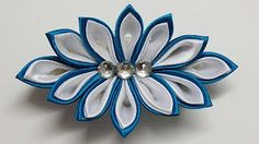 Kanzashi flower tutorial, How to,DIY ribbon flowers,kanzashi flores de cinta - YouTube