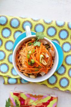 Spaghetti Squash Noodles with Thai Coconut Peanut Sauce Recipe   FamilyFreshCooking.com © MarlaMeridith.com
