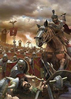 Roman legions fighting the Gauls Rome History, Ancient History, Soldado Universal, Imperial Legion, Roman Warriors, Roman Legion, Greek Warrior, Roman Soldiers, Roman Art