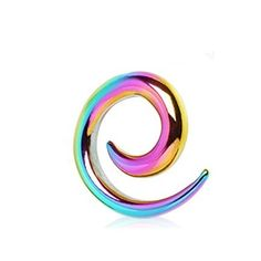 Pair (2) Rainbow Titanium Anodized Spiral Tapers Ear Plugs Stretchers 2G 6.5mm BYB Plugs. $15.99. Spiral Ear Tapers. Size: 2G (6.5MM). Rainbow Titanium Anodized. Sold in Pairs. Save 60%!