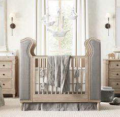 Tufted crib from RH Baby & Child