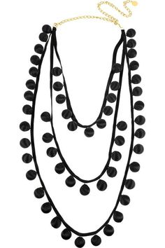 I'm inspired by this Stella McCartney necklace. May have to make something similar from trimmings.