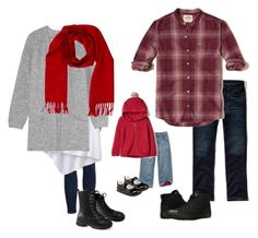 """""""Family Winter Reds"""" by bethanydarin on Polyvore featuring Topshop, prAna, By Malene Birger, Loro Piana, Hollister Co., Converse and Carter's"""