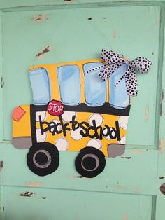 School Bus door sign for teachers  personalized by paintchic, $37.00