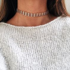"""- Chunky link chain choker - Gold or silver layered of your choice - Measures 12"""" + 3"""" extender"""