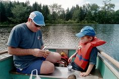 Father & Son Fishing by Treetop Mom, via Flickr