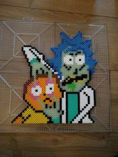 Rick and Morty Perler beads by SunshineNLemons